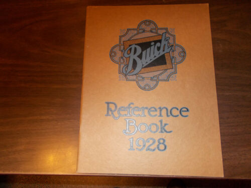 1928 Buick Reference Book 70-page Booklet  / Original / Nice !!