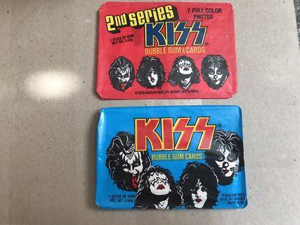 Original 1978 KISS bubble gum cards. Series 1 & 2