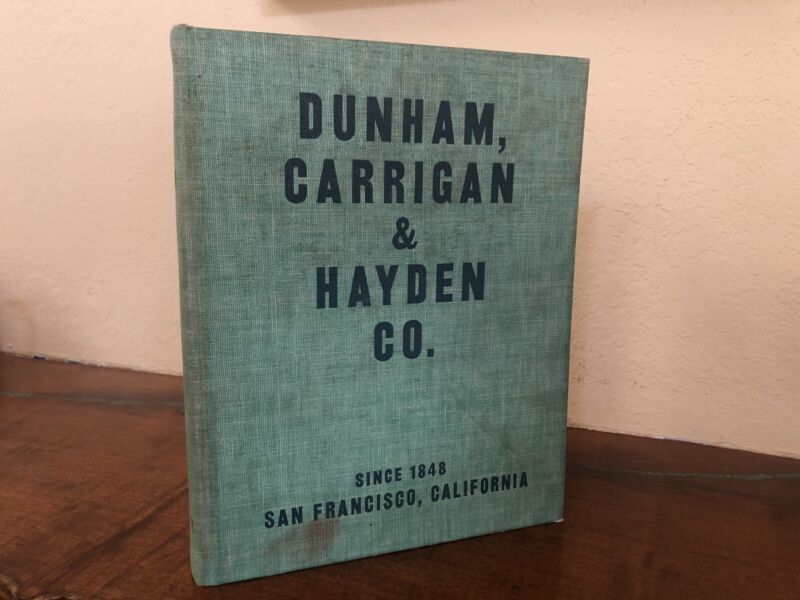 1950 Dunham Carrigan & Hayden General Hardware Toys Guns Trains Fishing Catalog