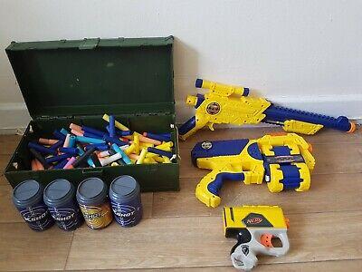 nerf gun x-shot bundle jolt pistols green ammo box targets + bullets 22.99p
