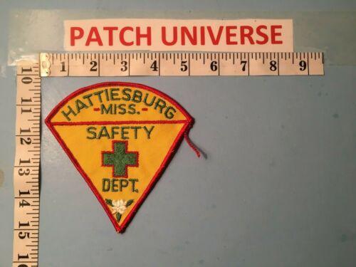 HATTIESBURG MISSISSIPPI SAFETY DEPT   SHOULDER PATCH  N111