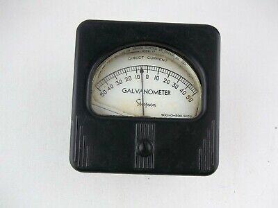 Vintage Simpson Electric Co. Galvanometer 50-0-50 Direct Current Gauge Meter