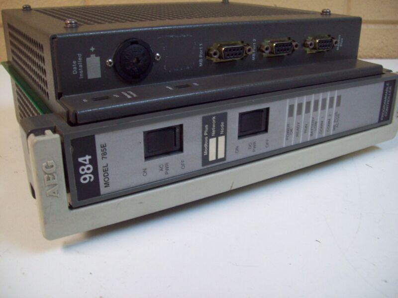 MODICON AEG PC-E984-785 PROGRAMABLE CONTROLLER 785E - USED - FREE SHIPPING