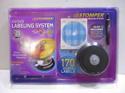 Cd Stomper Labeling System Includes Sealed Matte Cd Labels 170 Pack