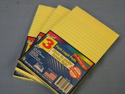 9 Pad Pack Jr Size 5 X 8 Yellow Legal Note Pads Lined 360 Sheets Tree House Usa