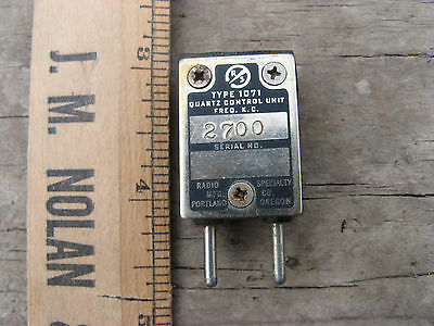 2700kc Quartz Crystal Control Unit Type 1071 Radio Specialty Co. Vtg