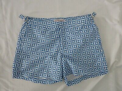 ORLEBAR BROWN blue and white printed bathing suit shorts size 32 (Orlebar And Brown)