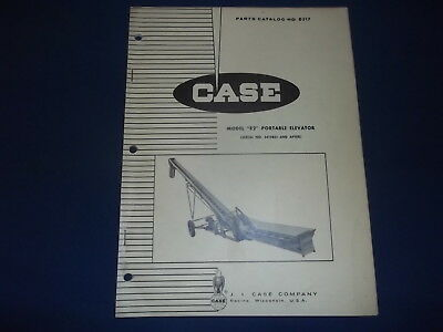 Case Model E2 Portable Elevator Conveyor Parts Manual Book Catalog D517