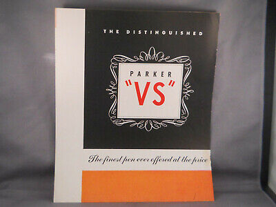 Parker Vintage VS and Vacumatic Junior 4 page catalog