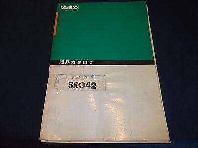 Kobelco Sk042 Mini Excavator Parts Book Manual
