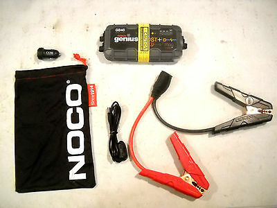 NOCO Genius GB40 1,000A 12V Lithium Jump Starter Power Pack Battery Car Phone