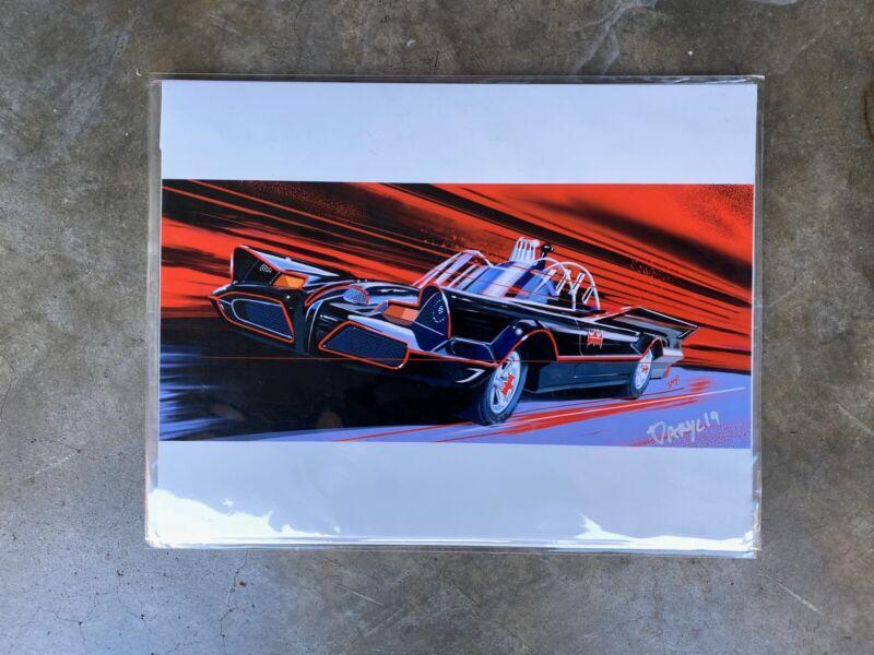 Classic Bat mobile print artwork By Automotive artist Daryl Thompson