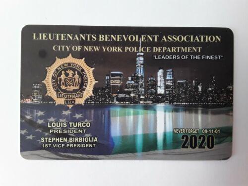 "1 "" AUTHENTIC 2020  LBA  LIEUTENANTS  CARD  NOT CEA SBA DEA PBA CARD"