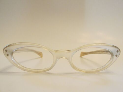 EI Madelyn Cat Eye Clear Rare Vintage Eyeglasses   Frame only, Made in France