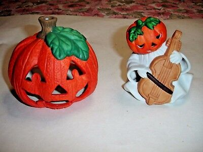HALLOWEEN PORCELAIN HOME DECOR GOST AND PUMPKIN