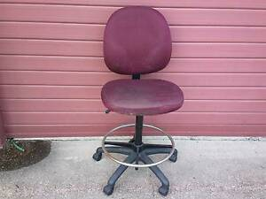 Red office chair / stool for only $10 Stafford Brisbane North West Preview
