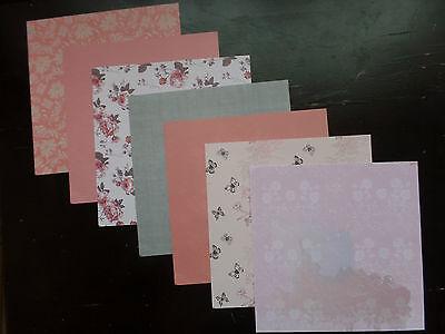 Creatives Papier  Design 7 Blatt 15cm x 15cm  Designpapier rosa grau