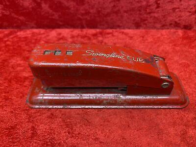 Vintage Swingline Cub Stapler Long Island City N.y. Red