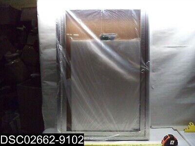 695481 1 Door Enclosed Bulletin Board - Cork - Aluminum Frame - 24 X 36
