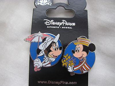 Disney Trading Pins 107809: Mickey & Minnie as Mary Poppins & Bert (2 Pin Set)