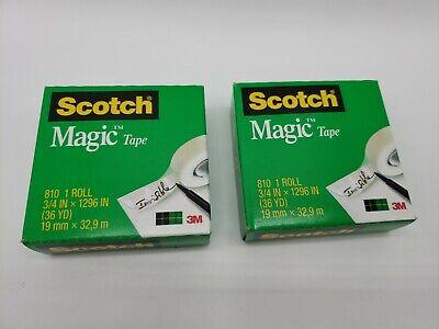 2 Rolls Scotch Magic Tape 3m 810 34 Inch X 1296 Inch 36 Yards Refill
