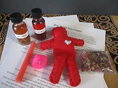 Voodoo Doll Spell Kit ~ Witchcraft Poppet ~ Love Spell Kit ~ Witchcraft Doll Kit
