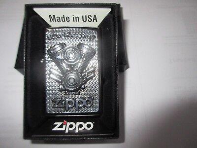 Zippo The Power of V8 Motor Big Block Emblem Rockabilly US Car Hot Rod Oldtimer
