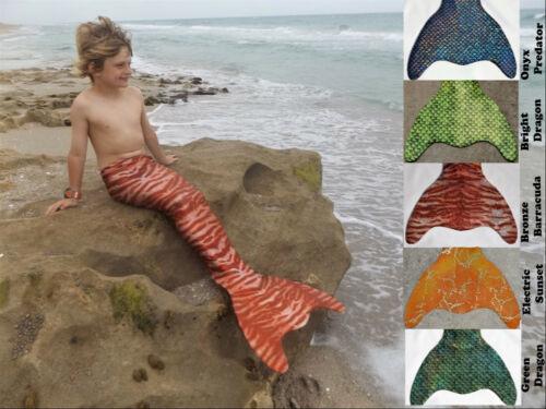 Boys Merman Tail US Made Dragon Tail Fun Monofin Swimmable Mermaid Fish Fin