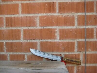 "Vintage 8"" Blade *** SHAPLEIGH *** Carbon Steel Butcher Knife USA"