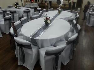 white spandex chair covers to hire Adelaide CBD Adelaide City Preview