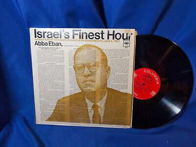 Abba Eban LP Israel's Finest Hour Columbia XX3 1967