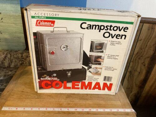 Coleman Folding Campstove Oven 5010B700 W/ Box & Manual Baking Roasting