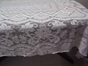 "Large crochet  tablecloth 73 x 56""  G3 Campbelltown Campbelltown Area Preview"