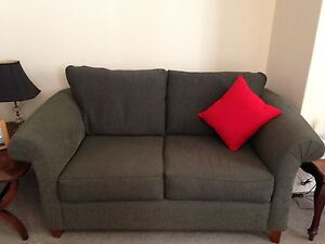 2-seater olive green lounge, MUST SELL, like new, Bondi J., Woollahra Eastern Suburbs Preview