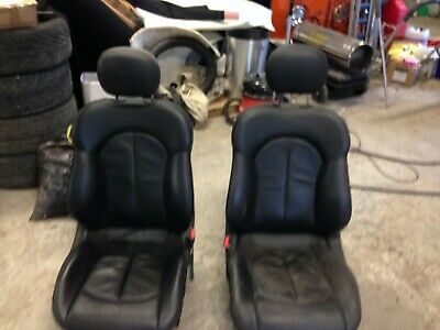 Mercedes c class coupe black leather seats