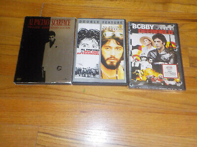 Al Pacino DVD Lot Serpico / Dog Day Afternoon / Scarface/ Bobby Deerfield