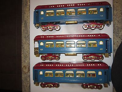 3 prewar Ives standard gauge trains International RARE