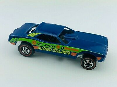 Hot Wheels Redline TOP ELIMINATOR Blue Enamel Flying Colors G/VG BASE ISSUE