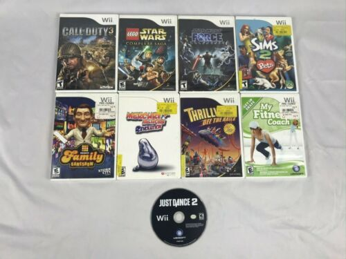 Lot of 9 Wii Games / Pre-Owned and Working / COD III / Star Wars / Fitness Coach