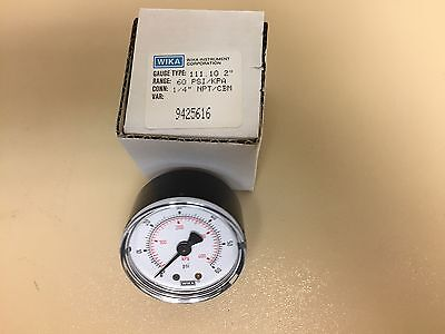 New Wika Pressure Gauge 111.10 2 60 Psi 14 Npt Pn 9425616