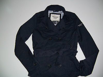 NWT Abercrombie & Fitch Trench Coat Classic Spring Light  $120 Jacket Belted XS