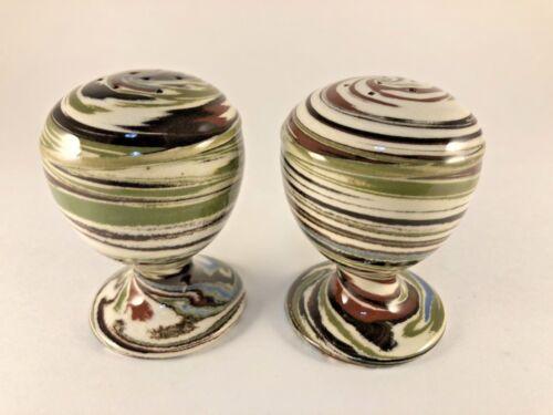 Desert Sands Neveda Swirl Pottery Salt & Pepper Shakers                      23