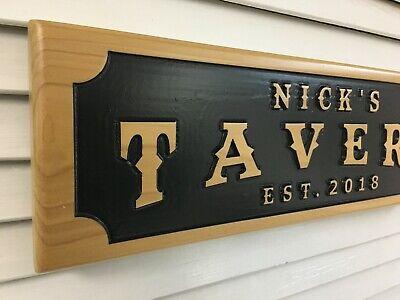 Personalized Tavern Sign Custom Wood Bar Sign Customizable Lounge Plaque / Sign Lounge Wood Sign