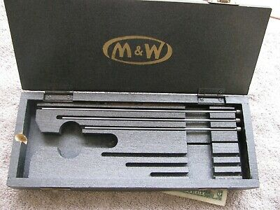 Moore Wright Depth Gage Box 4 5 6 18 Rods Machinist Toolmaker Tool