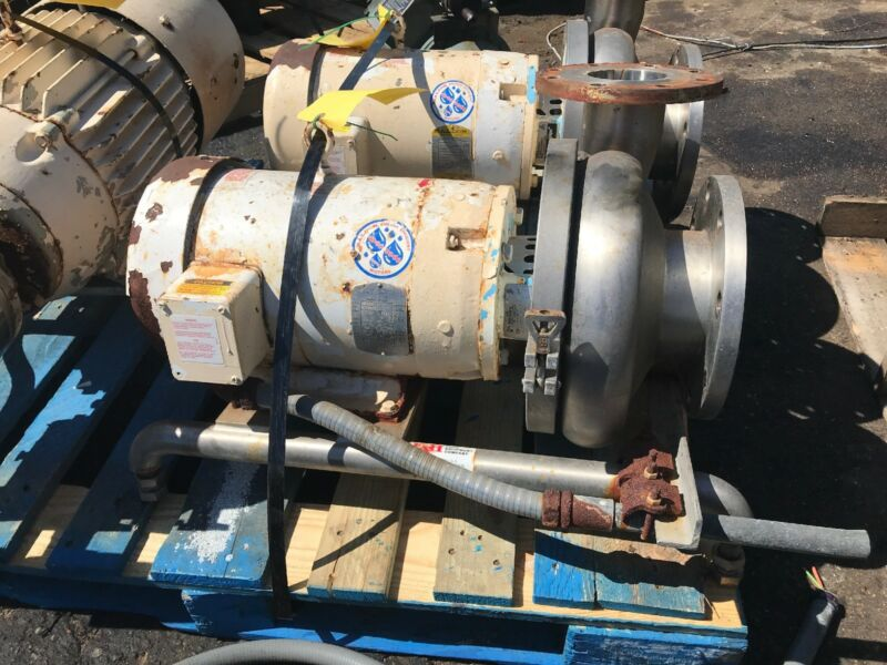 Waukesha Cherry Burrell Model 2105Pump w/ Baldor JMM3559T 3 Phase Motor 4x6
