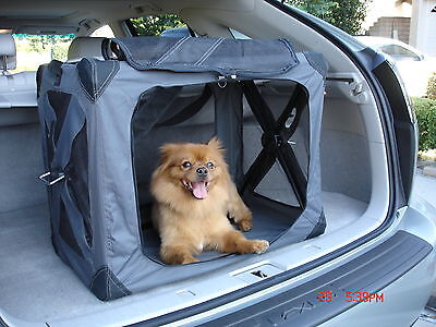 Folding Pet Porter, Dog or Cat Carrier - Small Size Animal Tote with Carry Strap
