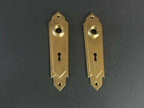 Vintage Brass Doorknob Back Plates X 2- Good Condition