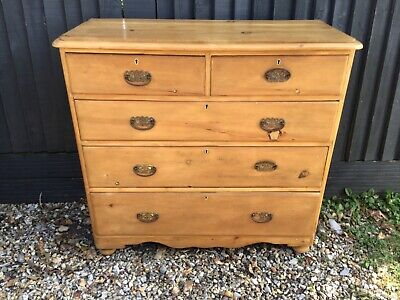 Victorian chest of drawers pine  large size