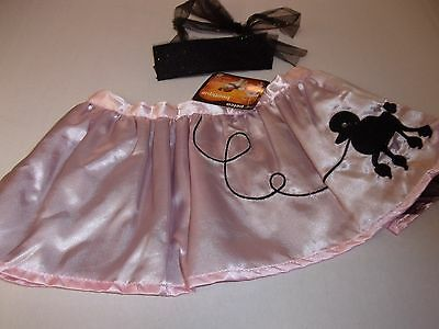 Pink POODLE SKIRT dog costume party pet dress up Petco halloween XS/S  new