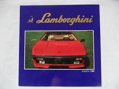 Prospekt brochure Faltprospekt LAMBORGHINI JALPA 3500 SR918